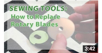 Sewing video tutorial - sewing tools - changing rotary blade