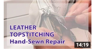 image for how to repair leather stitching