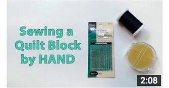 image how to sew a quilt block by hand