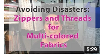 image how to pick thread and zipper color for multi-colored fabrics