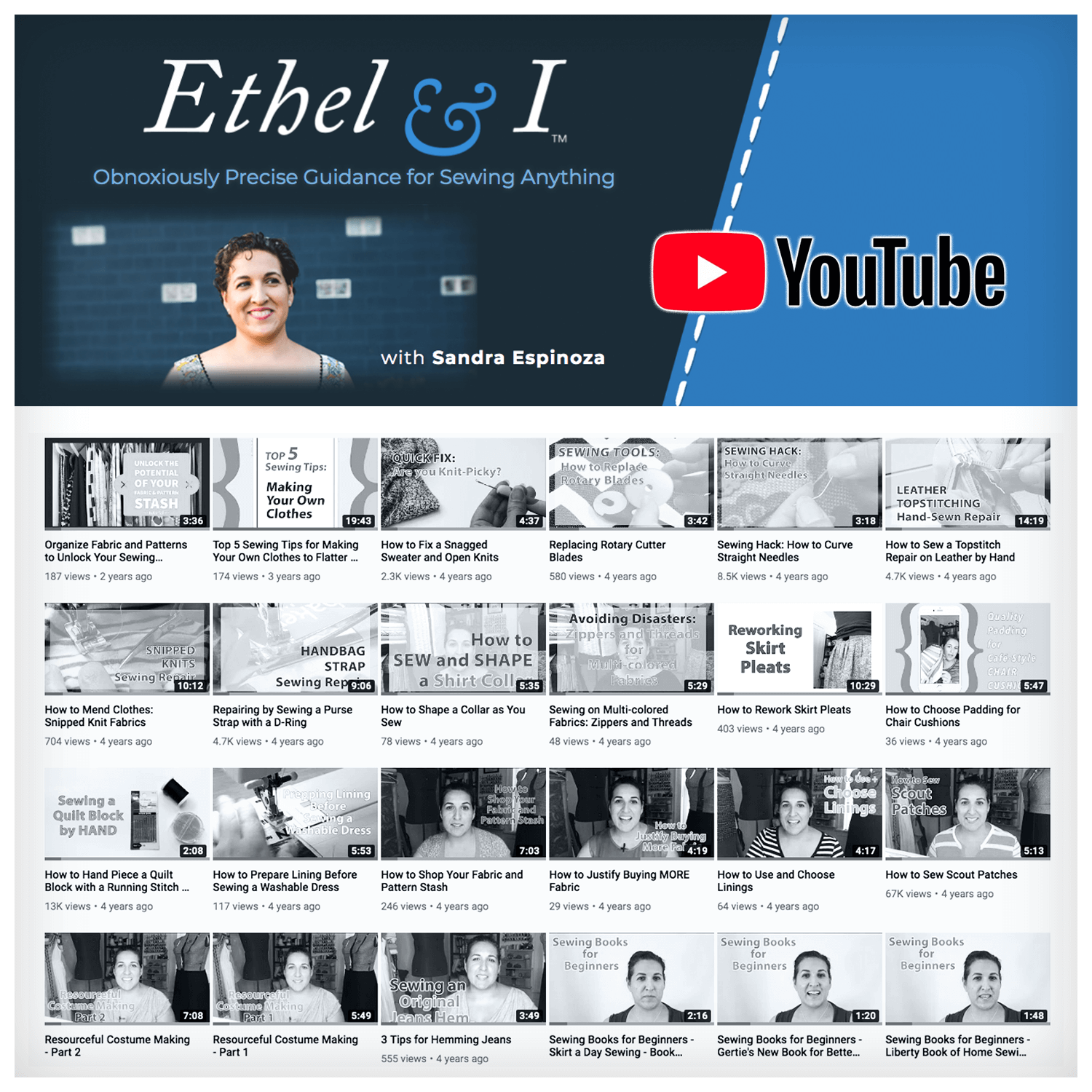 ethel & i - youtube channel graphics